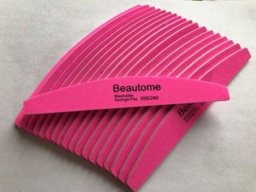 Пилка BEAUTOME розовая 200/240 грит